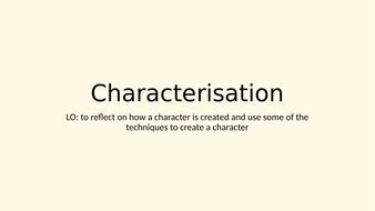 Characterisation
