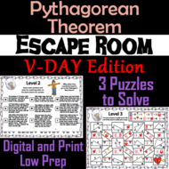Pythagorean Theorem Game Geometry Escape Room Valentines Day Math