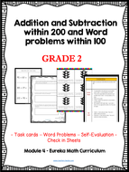 Grade 2: Add and Subtract within 200 and Word problems -Eureka Math - CCSS Aligned