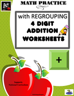 4 Digit Addition with Regrouping UK Version