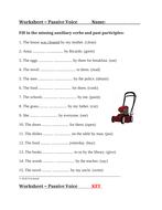 Passive Voice Worksheet in English: ELA / ESL / EFL