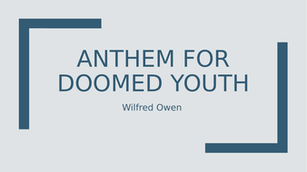 anthem of a doomed youth analysis