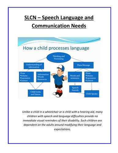 SLCN – Speech Language and Communication Needs
