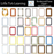 Page Borders and Frames Clipart - Personal and Commercial Use
