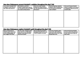 Macbeth Writing Frame To Help Structure  Essays On  Themes By  Macbeth Writing Frame To Help Structure  Essays On  Themes