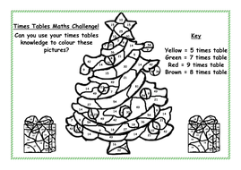 Maths Christmas Colouring Sheets Tes - colouring mermaid