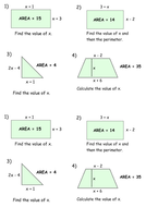Forming And Solving Quadratic Equations From Shapes Factorising By
