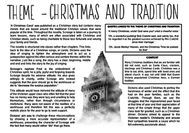 A Christmas Carol Themes - Full Sheets | Teaching Resources