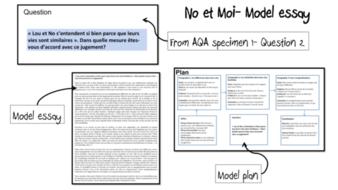 No et Moi- Etude du livre- model essay and model plan- French A-Level