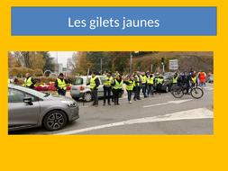 les gilets jaunes in France