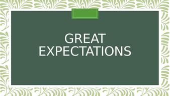 Great Expectations SOW IGCSE English Lit