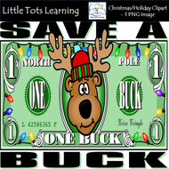 Christmas Clip Art - Christmas Money - Personal and Commercial Use