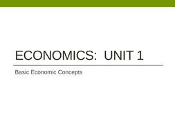 Basic Economic Concepts - Intro to Econ
