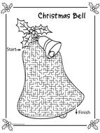 Christmas Mazes.Christmas Mazes