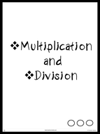 Multiplication and Divisions - Grade 2 Upwards