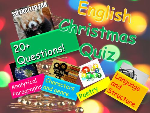 English Christmas Quiz  - FREE