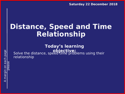 distance and time relationship