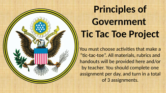 Principal of Government Tic Tac Toe Project