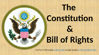 Constitution & The Bill of Rights Unit