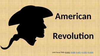 American Revolution Unit PBL