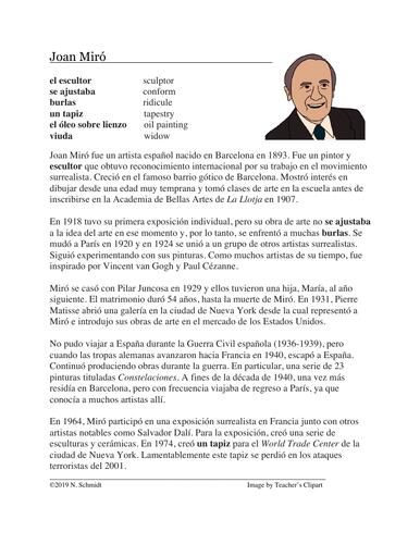 Joan Miró Biografía: Biography on a Famous Spanish Artist