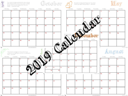 Monthly Calendar - 2019 Printable