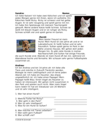 My Pets German Reading: Meine Haustiere Lesung