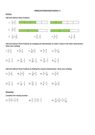 Adding & Subtracting Fractions Activity