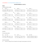 Grid Multiplication - Mastery Questions (3x and 4x)