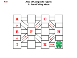 Area of Composite Figures Activity: St. Patrick's Day Math