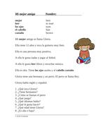 Mi Mejor Amigo Lectura Fácil: Best Friend Easy Spanish Reading (SUB PLAN)