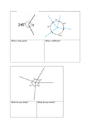 Maths Mastery Missing Angles Around a Point activities KS2