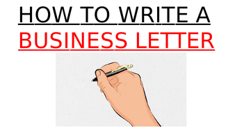 How to Write a Business Letter lesson plan