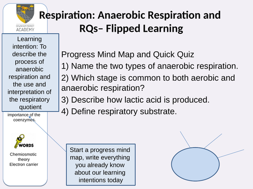 Anaerobic Respiration and Respiratory Quotients Double Lesson A Level Biology OCR A