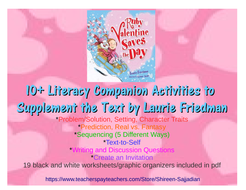 Ruby Valentine Saves the Day Literacy Companion Activities Using Friedman Text