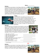 German Beginner Reading on Hobbies: Freizeit Lesung / Days of the Week