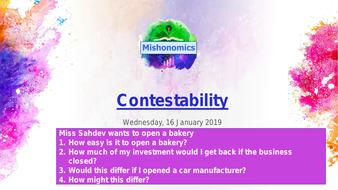 Contestability: A Level Economics