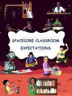 SpaceCore Classroom and School-Wide Expectations Posters