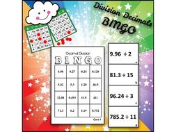 Math BINGO: Division OF Decimals