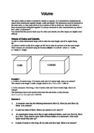 Cubes and Cuboids - Volume