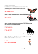 Wave speed equation worksheet | Teaching Resources