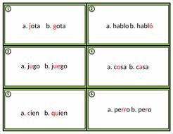Spanish Pronunciation & Listening Practice: Minimal Pairs Task Cards