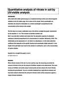 NEW L3 Applied Science Unit 19 - PRACTICAL - nitrate from soil UV spectroscopy