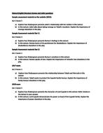 Edexcel Literature Romeo and Juliet past exam questions (2015 onwards)