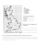 Co-ordinates and Map work - Dinosaur Theme