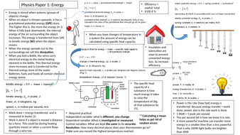 AQA Physics Paper 1 Combined Science Revision Summary