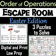 Easter Escape Room Math: Order of Operations Game (4th 5th 6th 7th Grade)