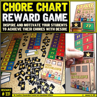 Chore Chart: Reward Incentive System for School and at home