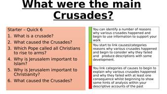 What were the main crusades?