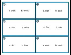 English Pronunciation & Listening: Minimal Pairs Task Cards (ESL/EFL/ELA)